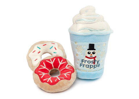 FuzzYard Frosty Frappe & Donuts Dog Toy