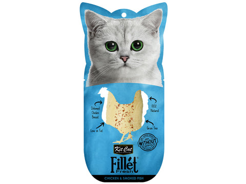 Kit Cat Fillet Fresh Chicken & Smoked Fish Wet Food