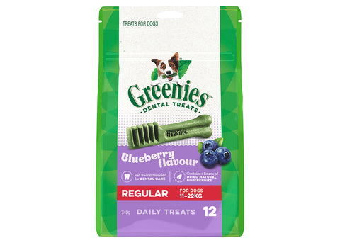 Greenies Dog Regular Blueberry Treat Pack