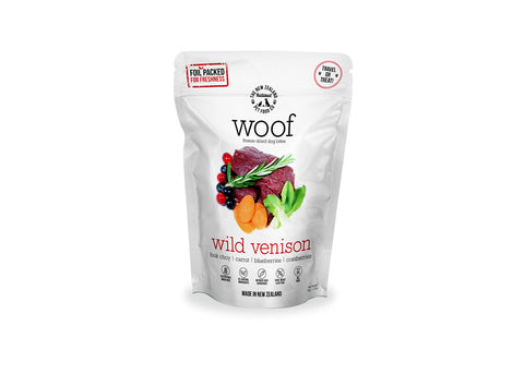 Woof Freeze Dried Dog Food Wild Venison