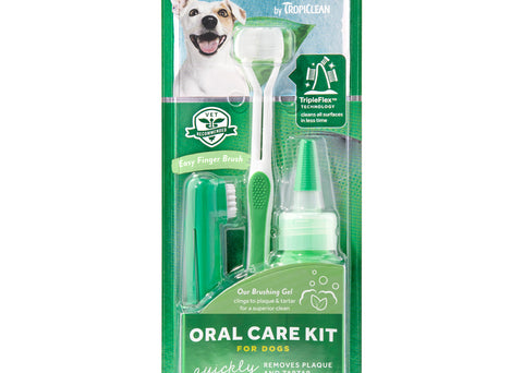Tropiclean Oral Care Kit for Medium & Large Dogs