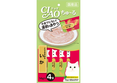 (SC-79) Ciao Churu Purée Cat Wet Treat - Chicken Fillet and Squid