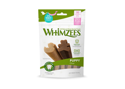 Whimzees Puppy Dental Treat - Extra Small and Small Breed