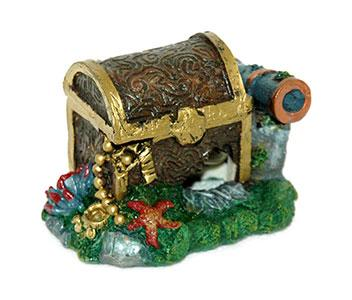 Aqua Pet Treasure Chest Cannon -Air Op