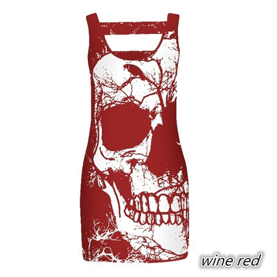 Women's Sleeveless Skull  Summe Dress
