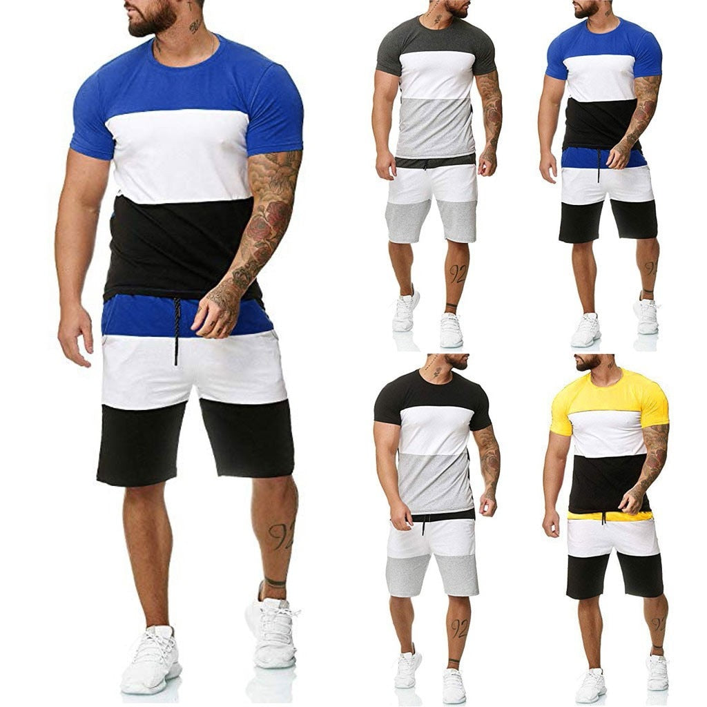 2pc Tracksuit Shorts Sets