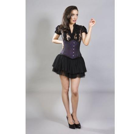Paars gothic corset