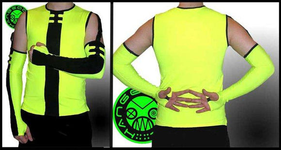 Neon green Cyber top - Divine-Darkness