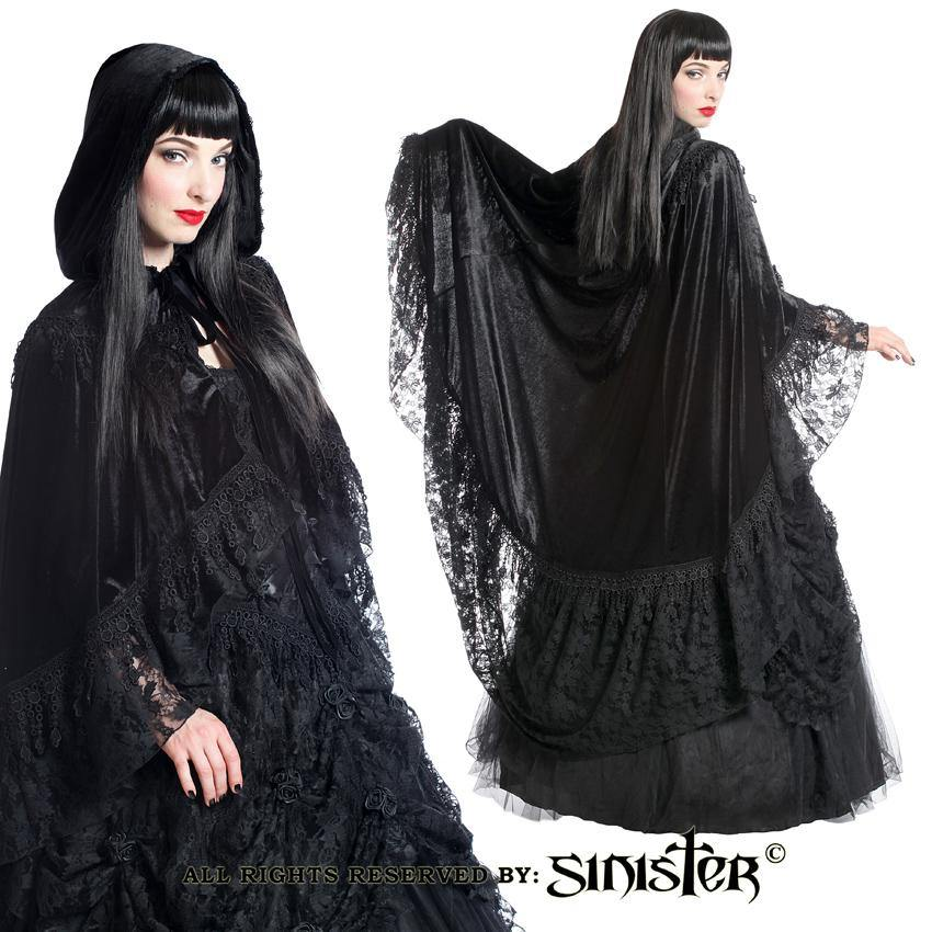 Gothic hooded cape