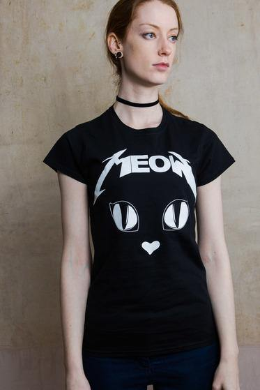 T-shirt Metal Meow - Divine-Darkness