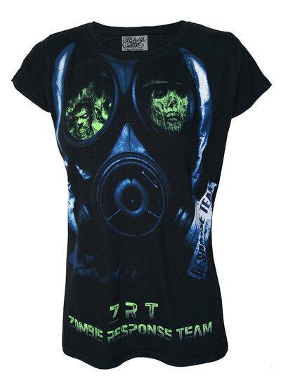 Zombie Face Mask Womens T Shirt