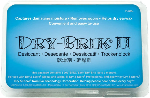 Dry & Store Dry Brik II Desiccant Blocks (1 Pack; 3 Blocks)