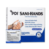 Sani-Hands Antimicrobial Hand Sanitation Wipes, Box of 100