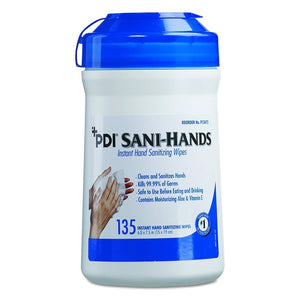 Sani-Hands Antimicrobial Hand Sanitation Wipes, Can of 135 Wipes