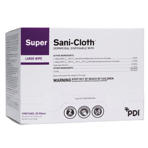 PDI Super Sani-Cloth Large Wipe - 50 Individual Wipes