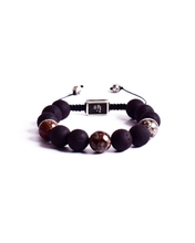 Load image into Gallery viewer, ZIVA Obsidian Snowflake Bracelet