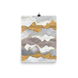 Metallic Mountain • Art Print