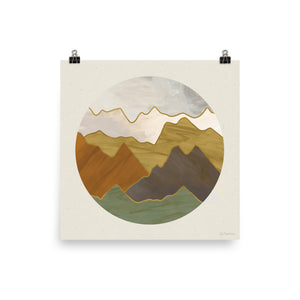 Mountain Range • Art Print