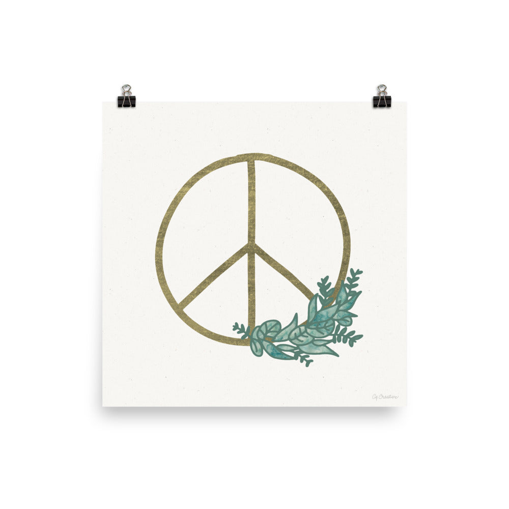 Peace Wreath • Art Print