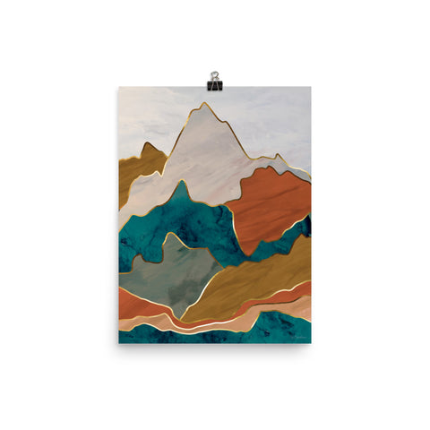 Earth & Mountains •. Art Print