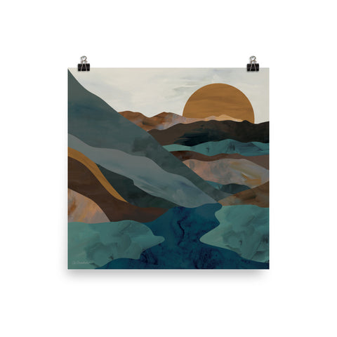 Dusk Mountains • Art Print