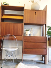 Load image into Gallery viewer, Mid Century Modern Teak Wall Unit