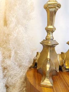 Extra Tall Brass Pillar Candle Holders