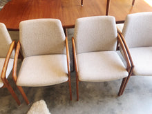 Load image into Gallery viewer, Danish Made Teak Table with 6 Arm Chairs