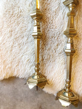 Load image into Gallery viewer, Extra Tall Brass Pillar Candle Holders