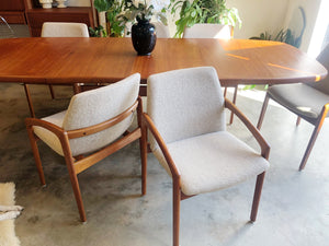 Danish Made Teak Table with 6 Arm Chairs