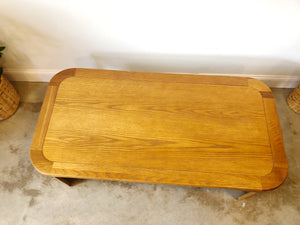 Mid Century Modern Oak Coffee Table