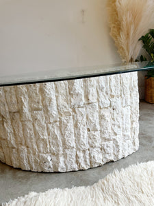 1970s Magnussen Ponte Postmodern Tessellated Stone Coffee Table
