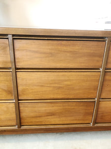 Mid Century Modern Nine Drawer Long Boy