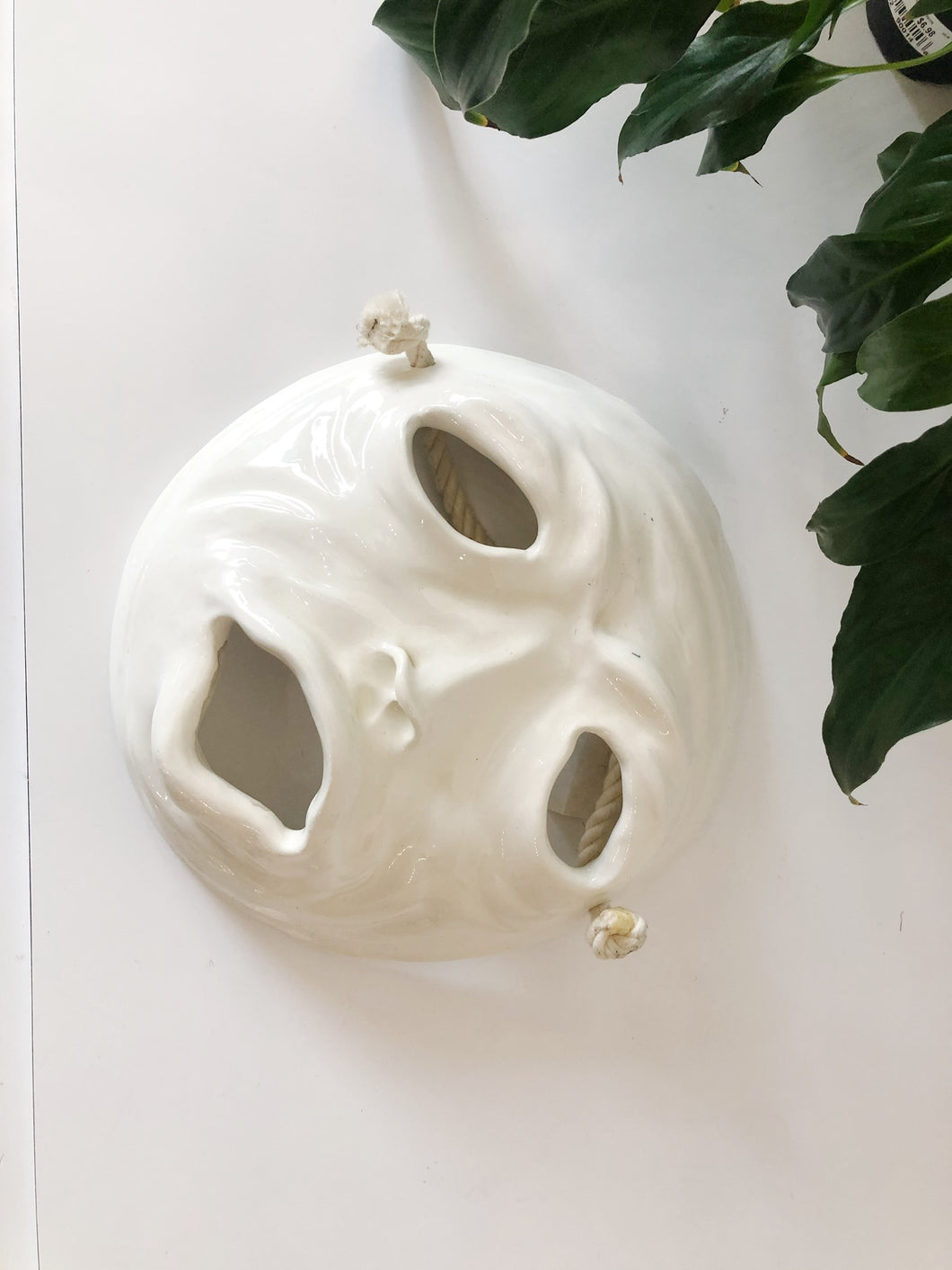 Handmade Ceramic Decretive Face Mask //Signed by the Artist