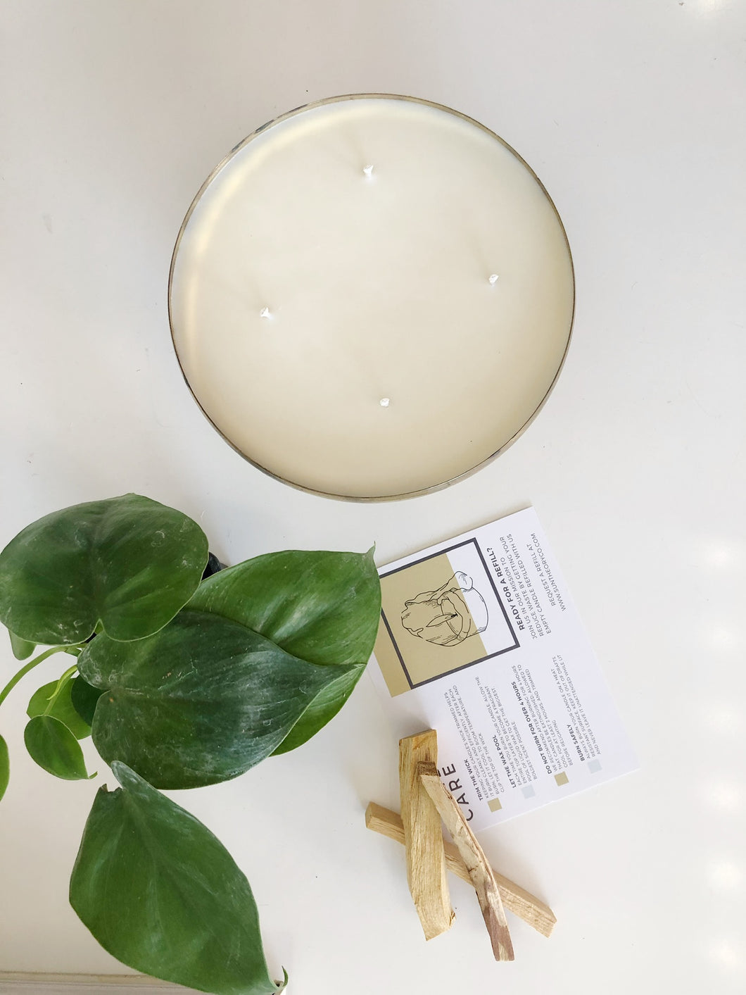 Palo Santo Scented Candle Sun Theory & Brick Alley Co.