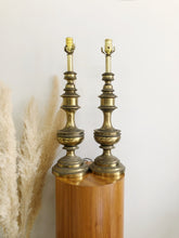 Load image into Gallery viewer, Pair of Brass Table Lamps