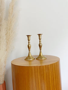 Pair of Brass Candlestick Holders
