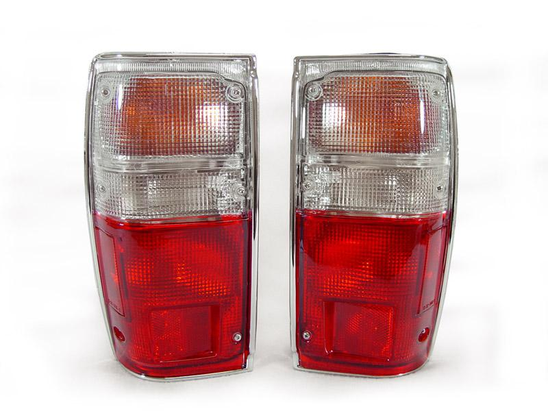 1984-1989 Toyota 4Runner Red / Clear Rear Tail Light Set with Bulbs Made by DEPO-Lighting-4Runner-Depot-TL-TY-PU-84-RC-4Runner-Depot