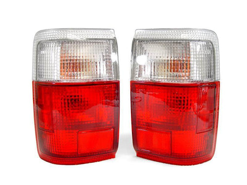 1990-1992 Toyota 4Runner Red / Clear Rear Tail Light Set with Bulbs Made by DEPO-Lighting-4Runner-Depot-TL-TY-4RUN-90-RC-4Runner-Depot