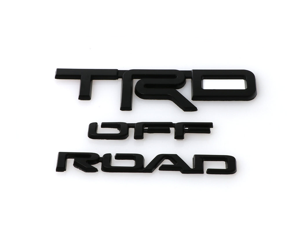 2014-2020 Toyota 4Runner TRD OFF ROAD BLACK OUT Replacement Emblem Badge For Rear Side of the Vehicle - One Pair