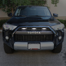 Load image into Gallery viewer, 2014-2020 Toyota 4Runner RAPTOR Style Quad LED Grill Light / Plug & Play to TRD Pro Black Mesh Grill Insert Screw On 3pcs