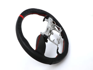 2014-2020 Toyota 4Runner Real Leather Handle with Real Carbon Fiber Sports Red Stitch Steering Wheel