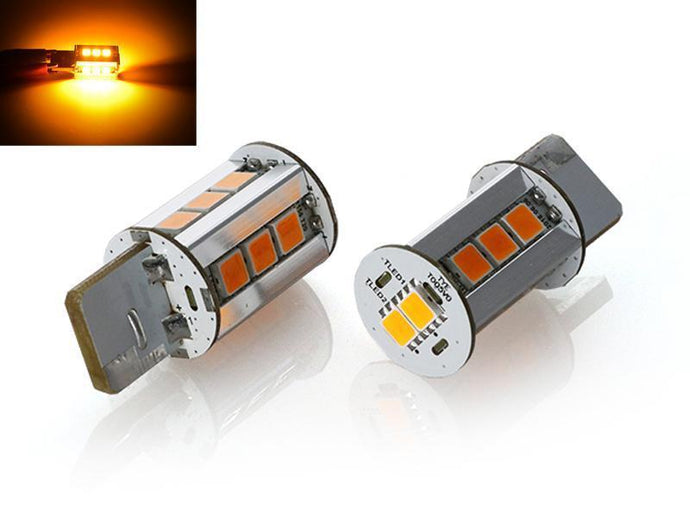 x2 Brightest 2000 Lumen Canbus Error Free Amber LED Headlight or Tail Light Turn Signal Light Bulbs - Size T20 7440 Made by Unique Style Racing-Lighting-4Runner-Depot-4Runner-Depot