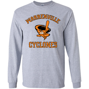 Cyclones Full Logo (bk/or) Youth LS T-Shirt