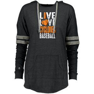 I Love Cyclones  Ladies Hooded Low Key Pullover