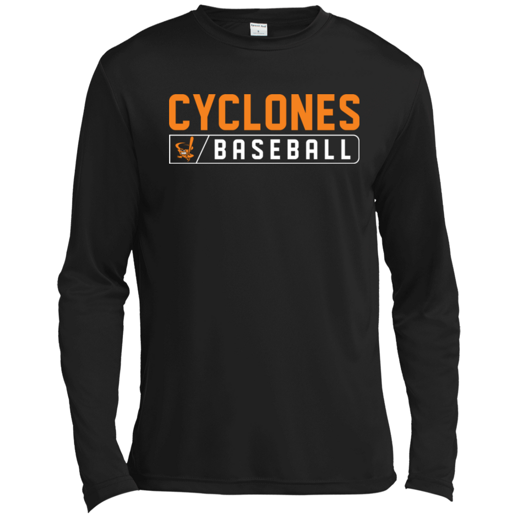 Cyclones Bar Logo (orange) Tall Long Sleeve Moisture Absorbing T-Shirt