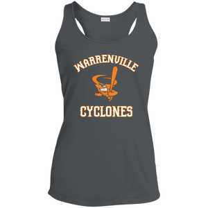 Cyclones Logo Ladies' Racerback Moisture Wicking Tank