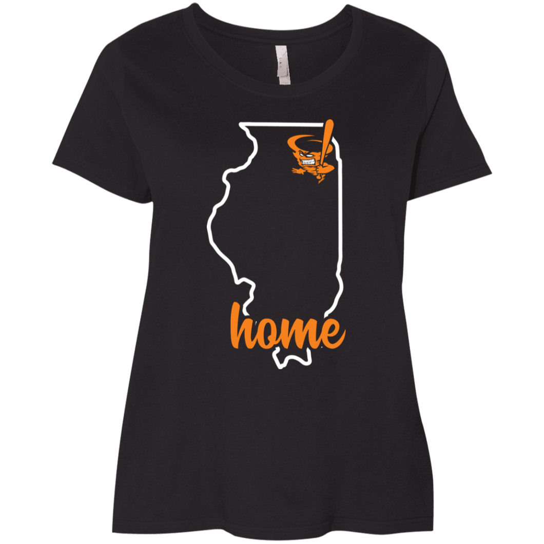 Cyclone Illinois Home Ladies' Curvy T-Shirt