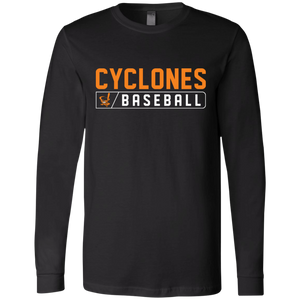 Cyclones Bar Logo (orange) Jersey LS T-Shirt