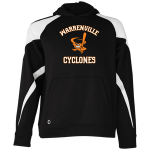 Cyclones Full Logo  Youth Colorblock Hoodie
